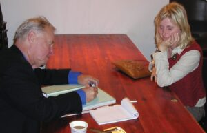 Camilla Birch og Terence Conran